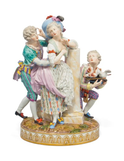 A MEISSEN GROUP OF 'THE NOBLE