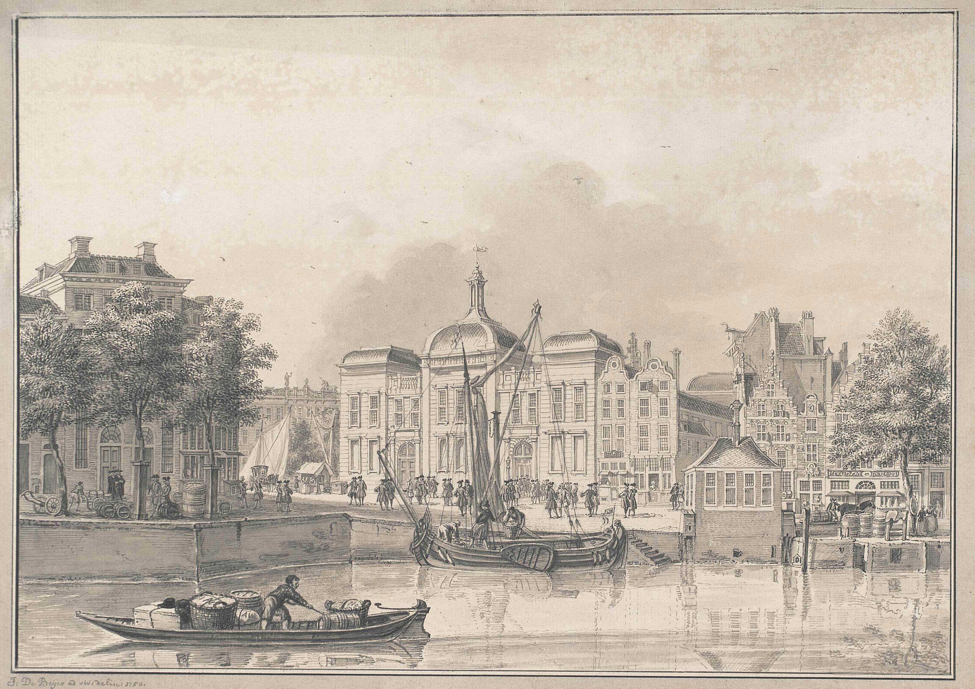 View of the Old Stock Exchange, Rotterdam
