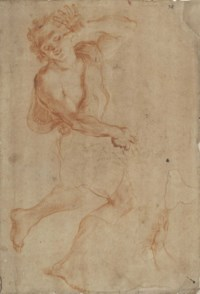 A young shepherd shielding his face (recto); Study of a head in profile (verso)