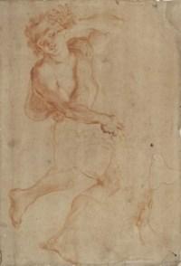 A young shepherd shielding his face (recto); Study of a head in profile (verso)