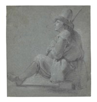 A seated shepherd