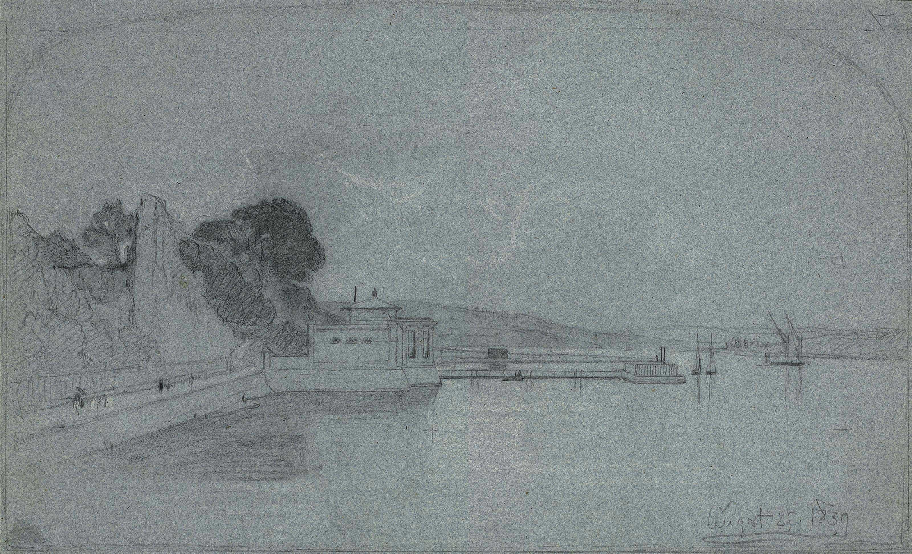 View on the Medway, near Rochester