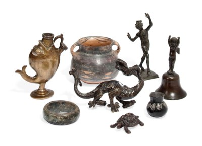 A COLLECTION OF BRONZE AND OTH