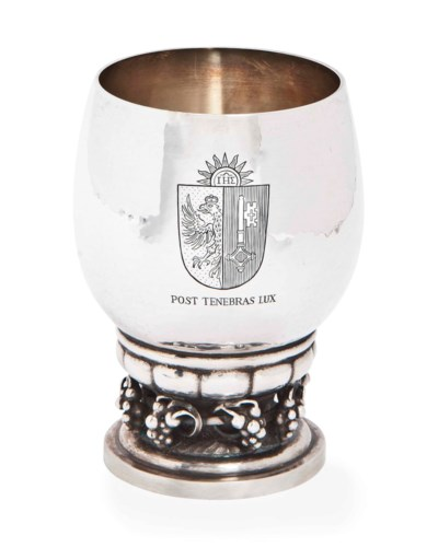 A DANISH SILVER GOBLET