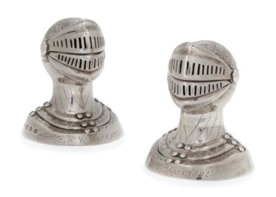 A PAIR OF VICTORIAN NOVELTY SI