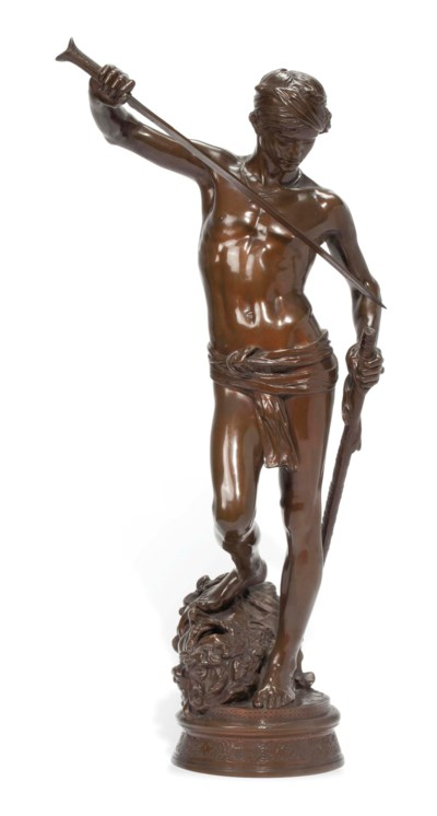 A FRENCH BRONZE MODEL OF 'DAVI