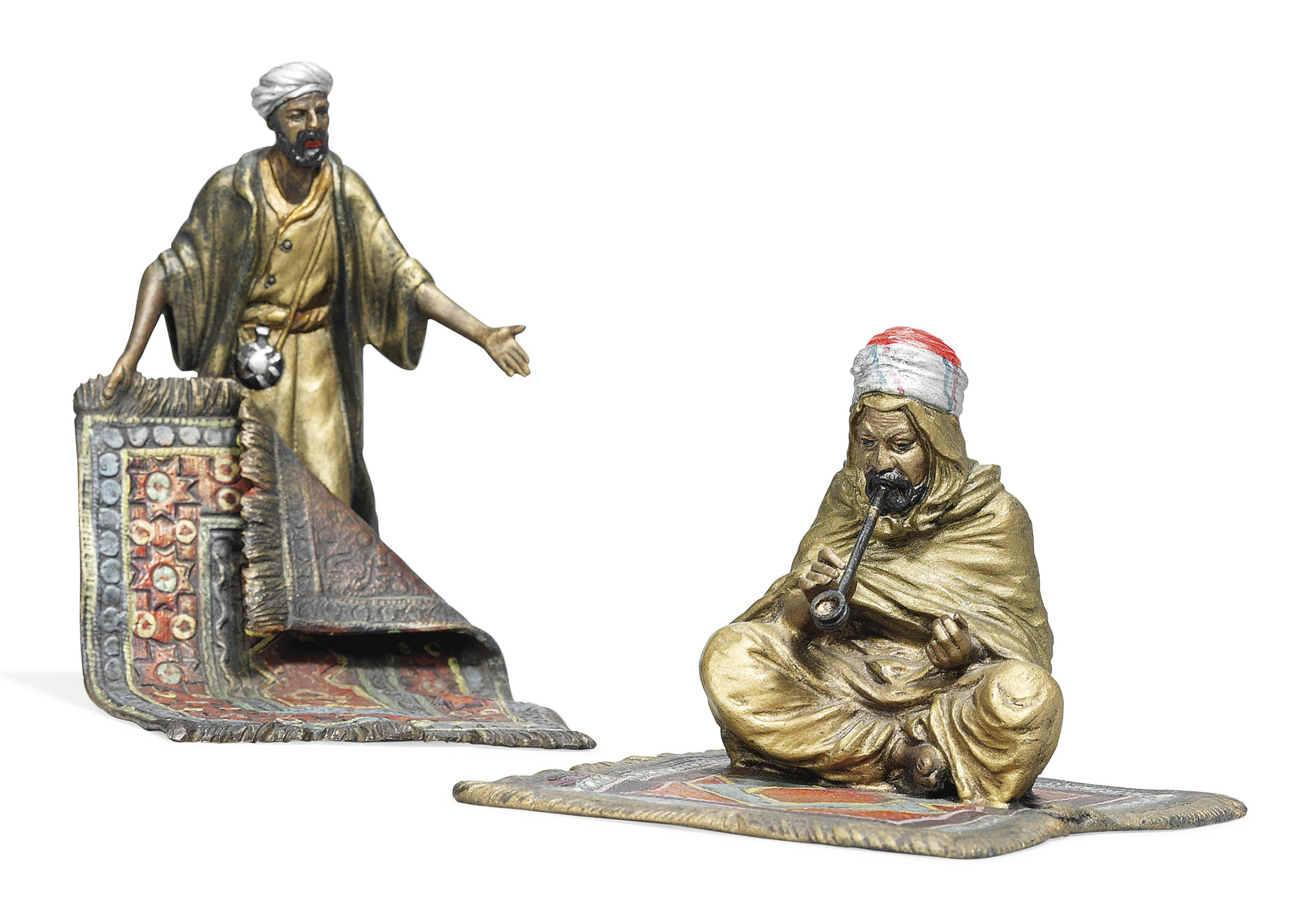 TWO AUSTRIAN COLD-PAINTED ORIENTALIST FIGURINES