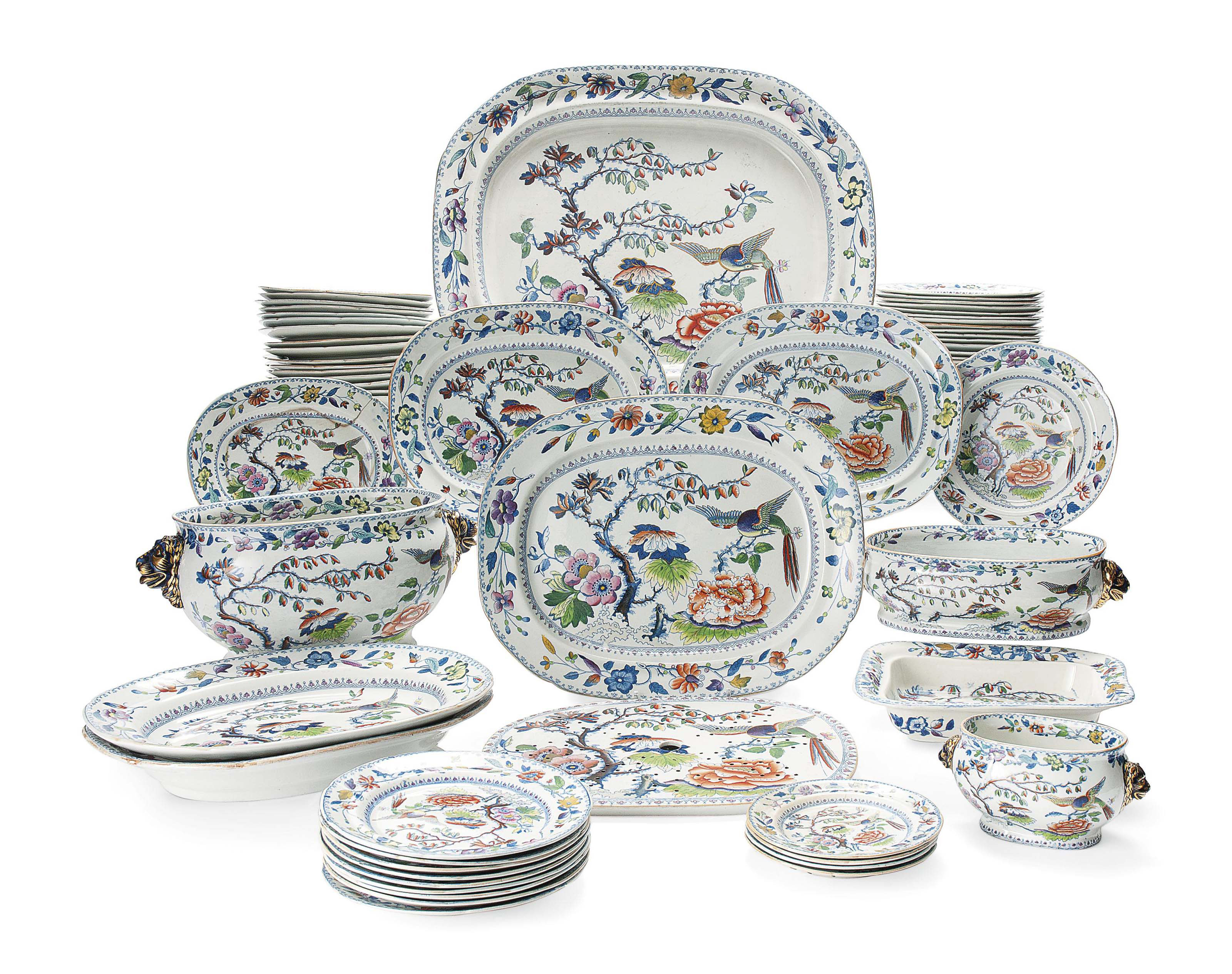 A DAVENPORT STONE CHINA PART DINNER-SERVICE