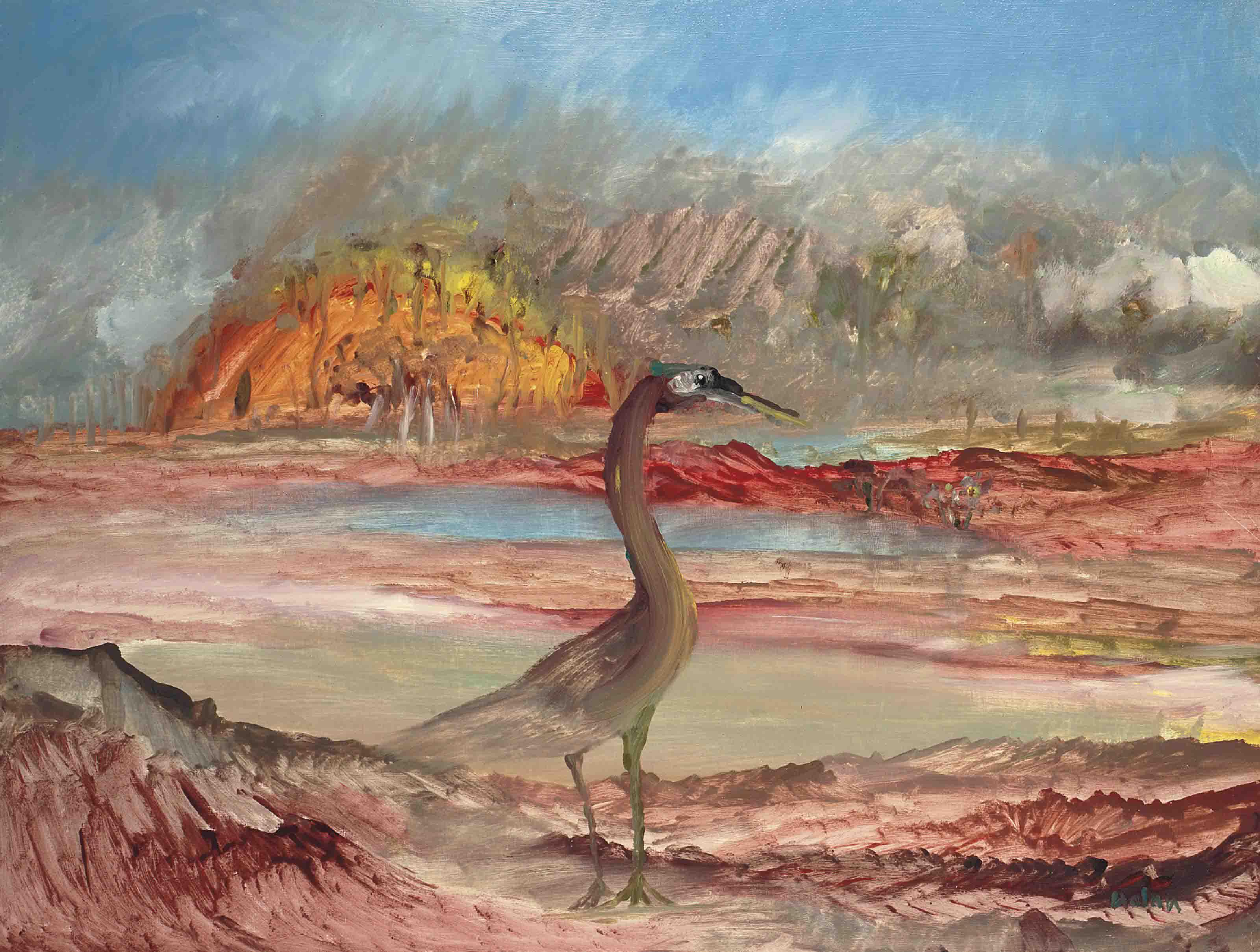 Bird in landscape