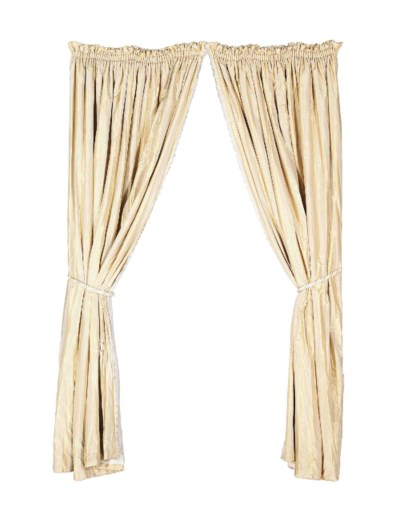 TWO PAIRS OF TAUPE SATIN STRIP