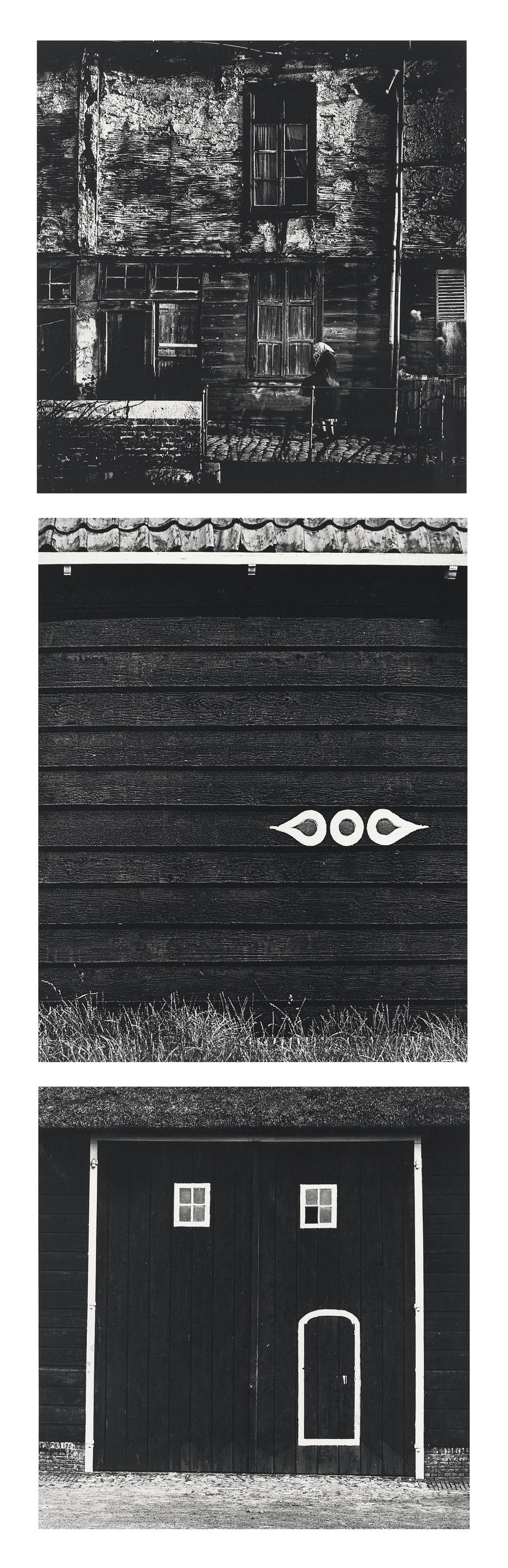 Rural landscape; Wooden wall of farmhouse; Rural landscape, c. 1960