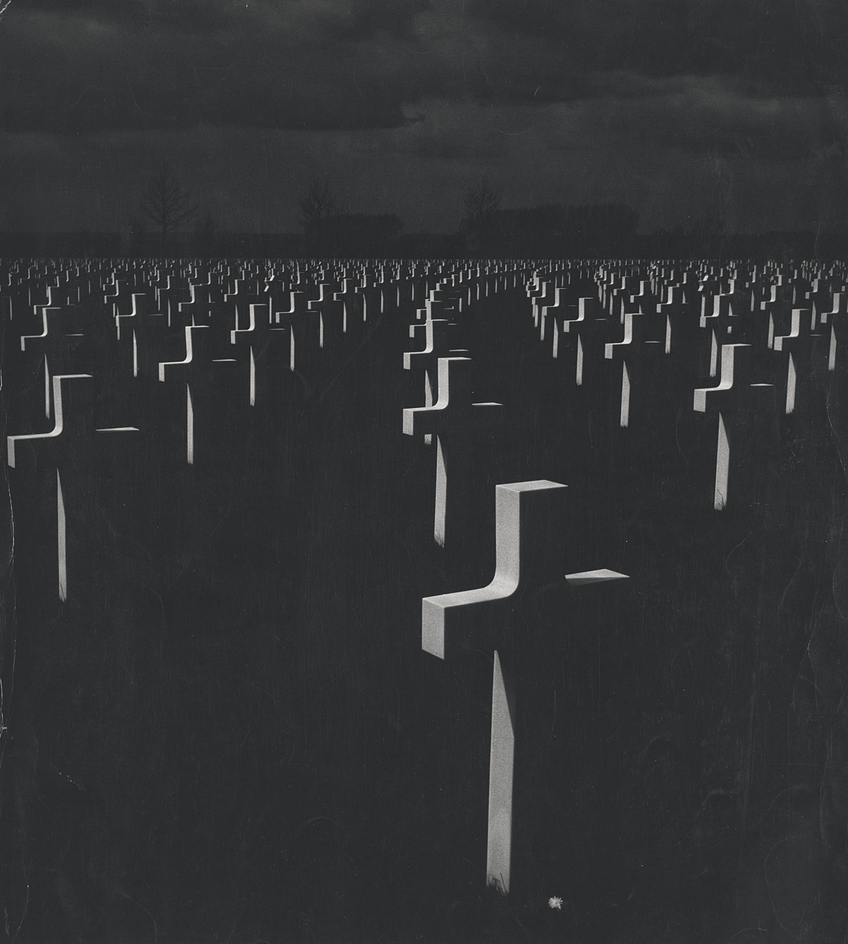Cemetery at night. c. 1960