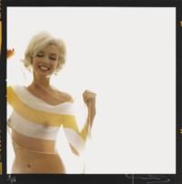 Marilyn Monroe in striped scarf - The last sitting, 1962