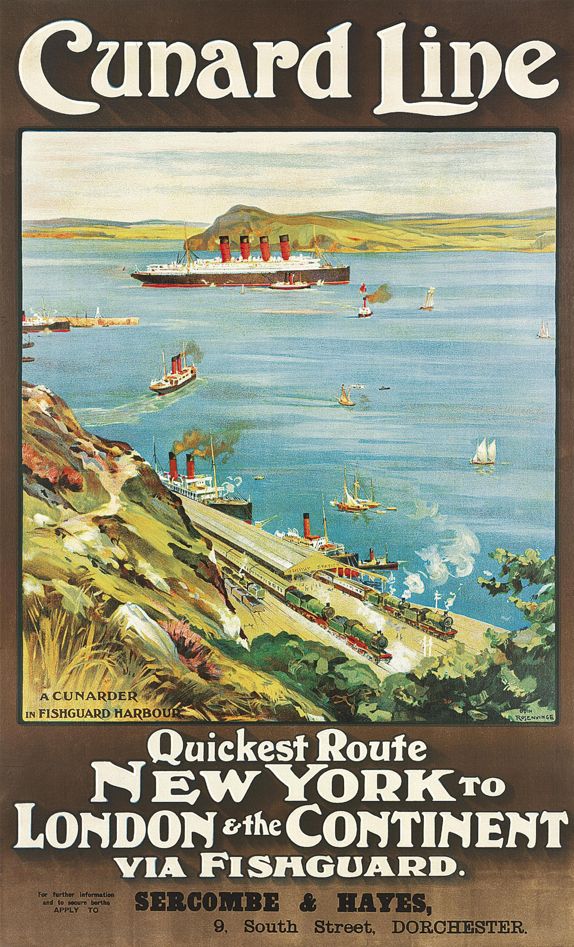 CUNARD LINE, NEW YORK TO LONDON & THE CONTINENT