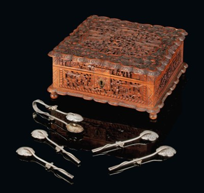 A SET OF CHINESE EXPORT SILVER