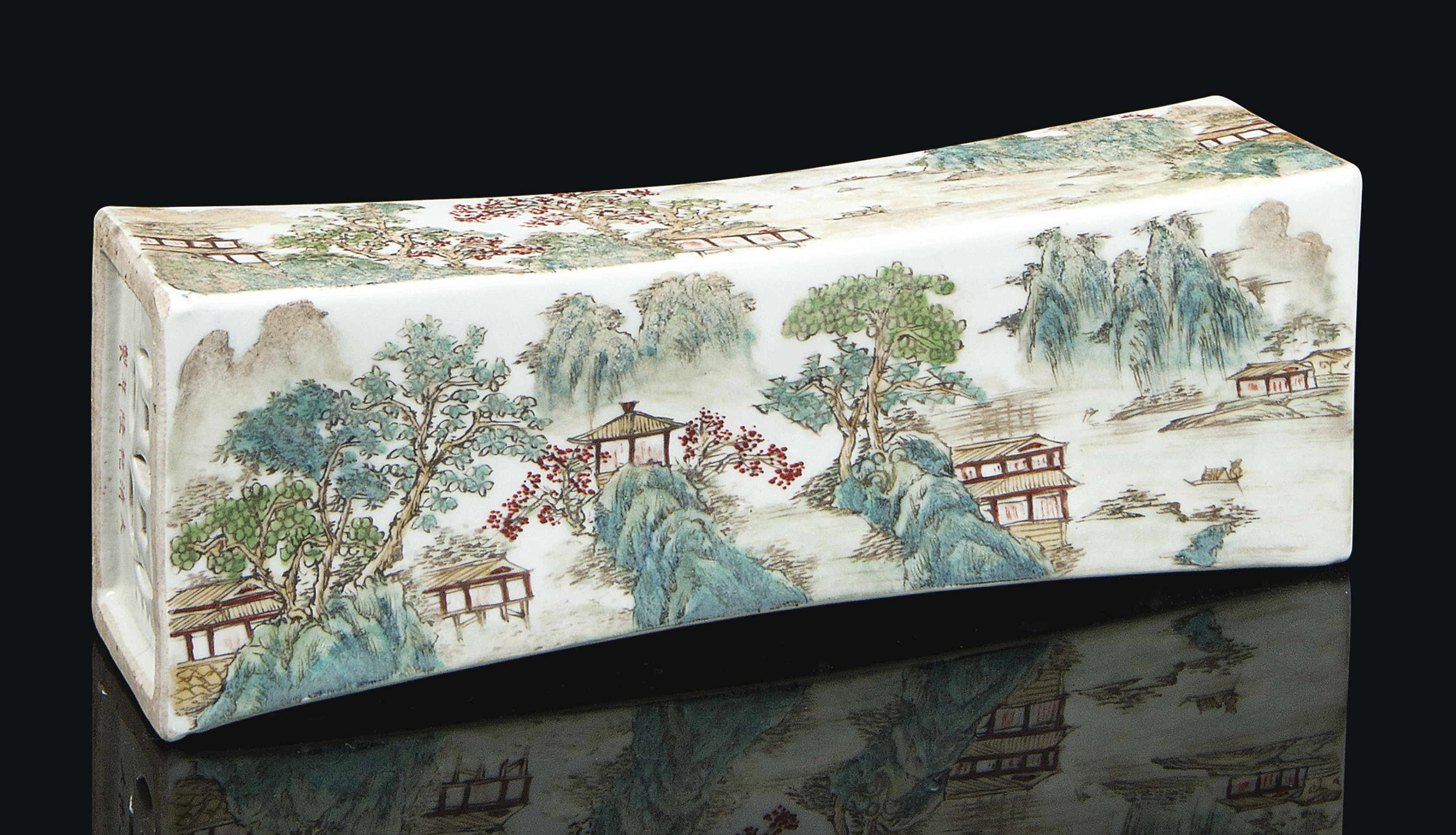 A CHINESE ENAMELLED PORCELAIN