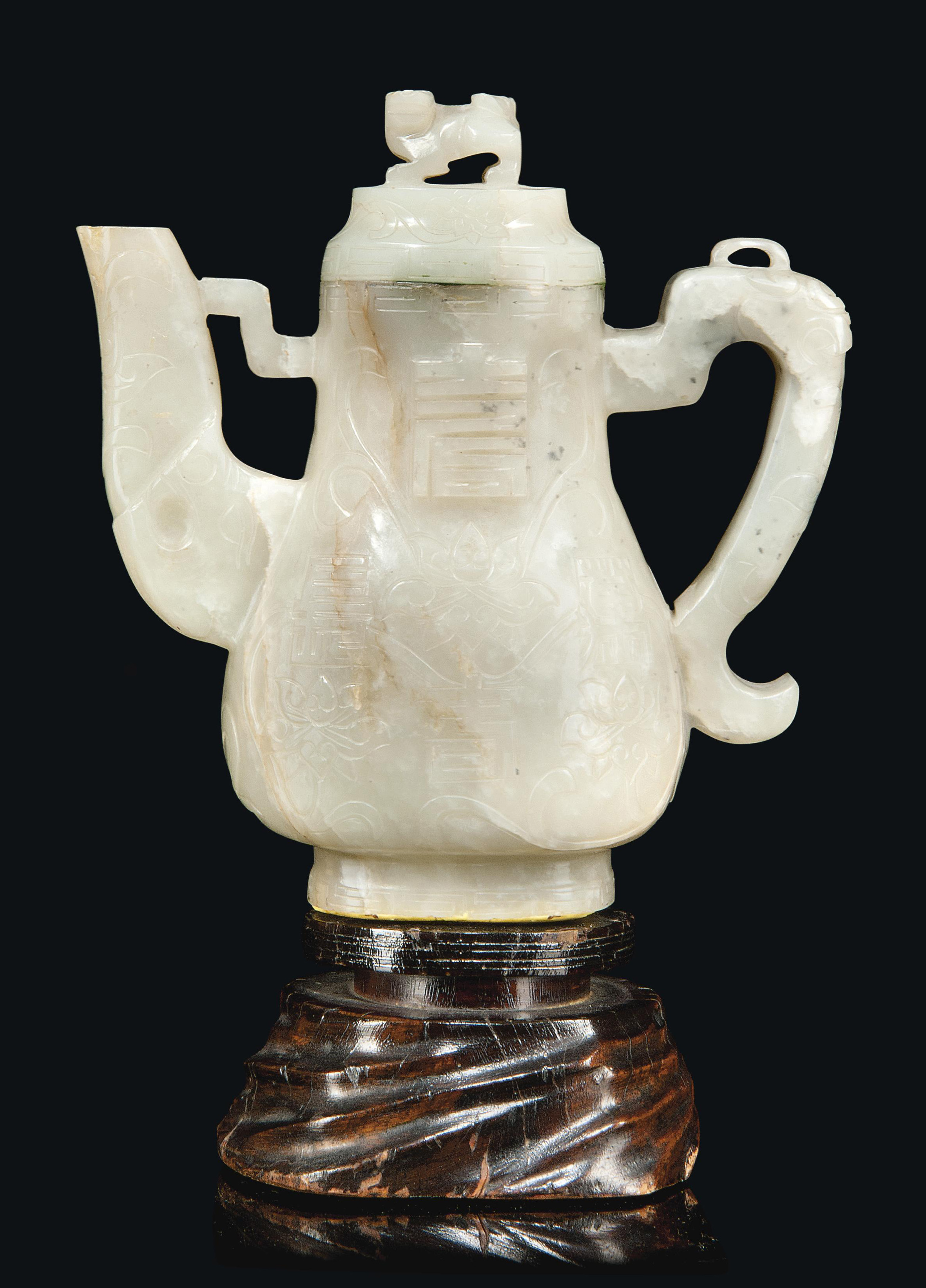 A CHINESE CELADON GREY AND RUS