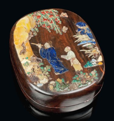 A CHINESE INLAID WOODEN BOX
