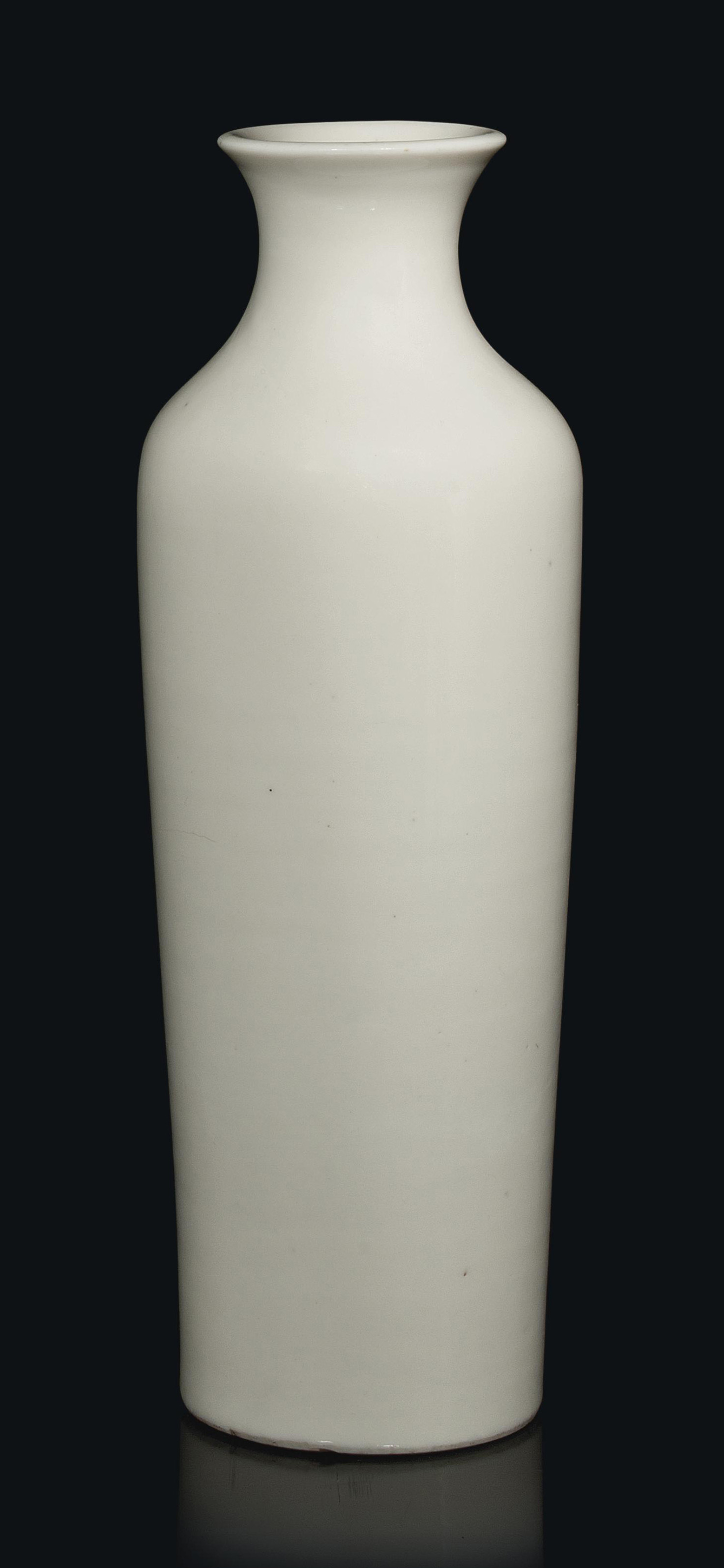 A CHINESE BLANC-DE-CHINE VASE