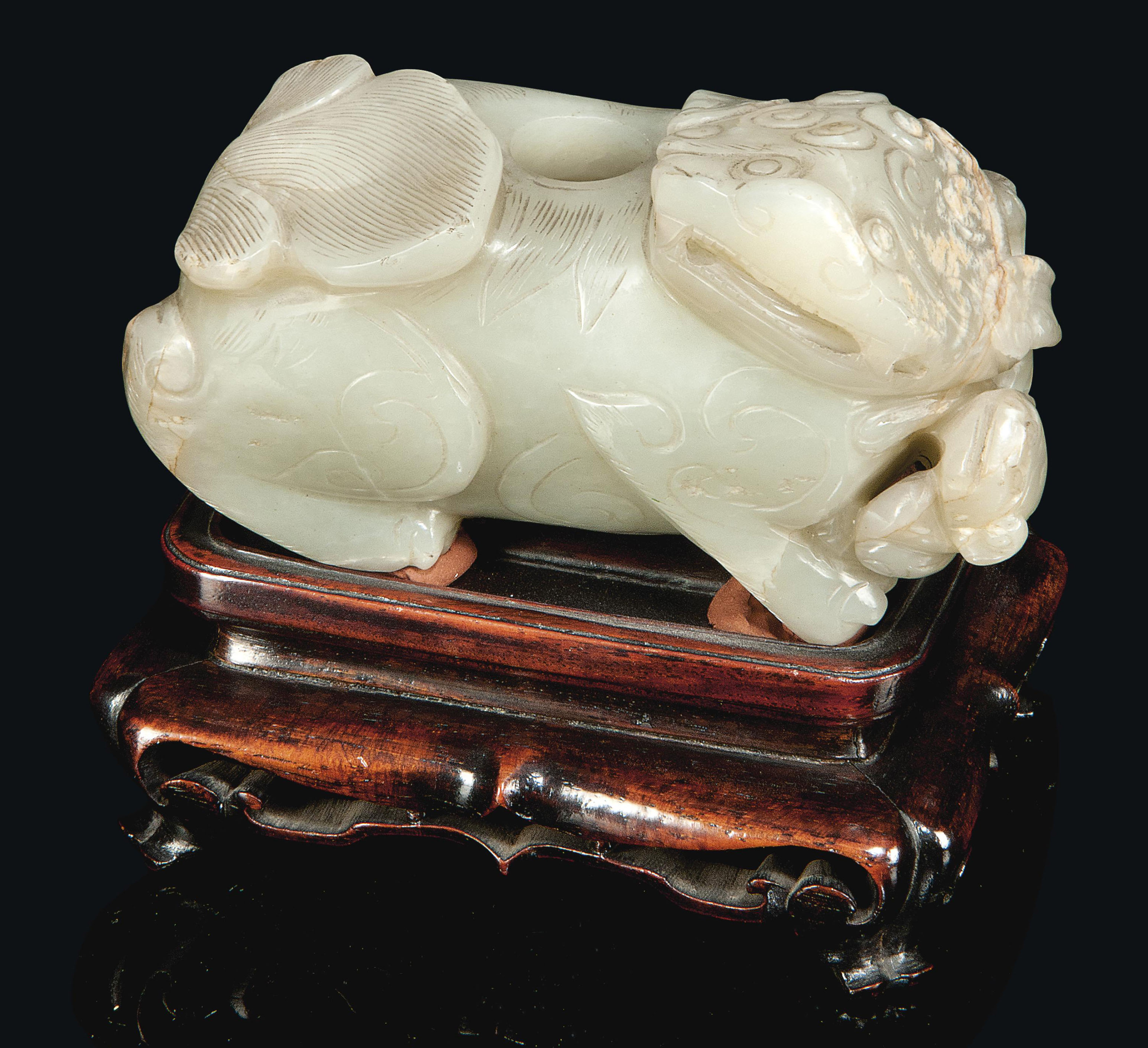 A CHINESE PALE CELADON JADE MY