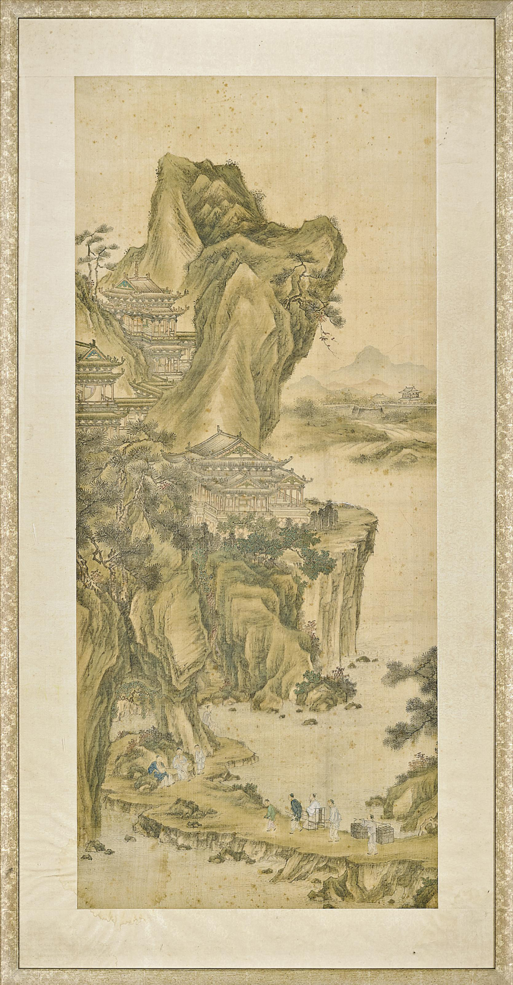 A CHINESE PAINTING OF LANDSCAP