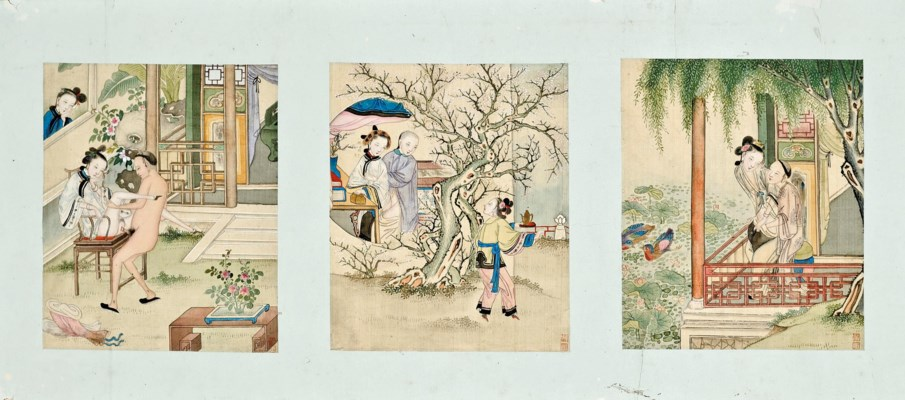 A CHINESE EROTIC HAND SCROLL