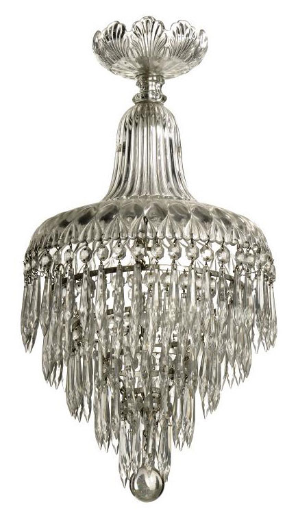 AN ENGLISH MOULDED GLASS CEILING LIGHT