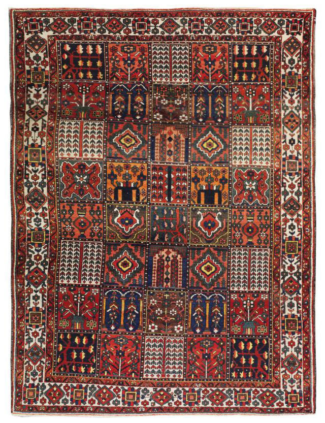 A Barhtiari Garden carpet