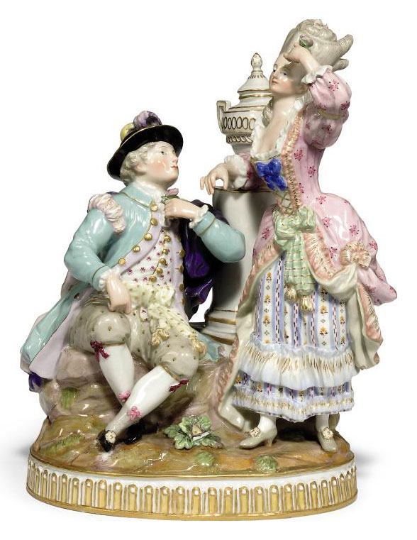 A MEISSEN GROUP OF LOVERS