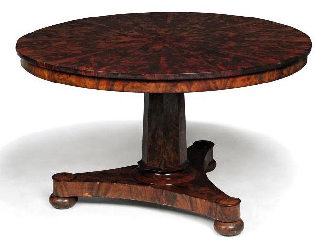 AN EARLY VICTORIAN MAHOGANY BREAKFAST TABLE