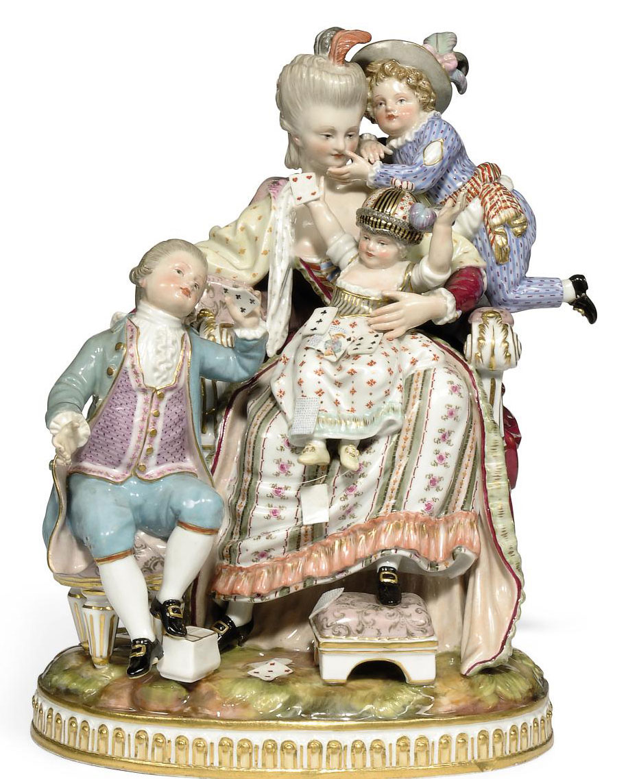 A MEISSEN GROUP OF 'THE GOOD MOTHER'
