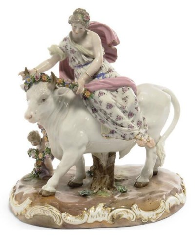 A MEISSEN GROUP OF EUROPA AND