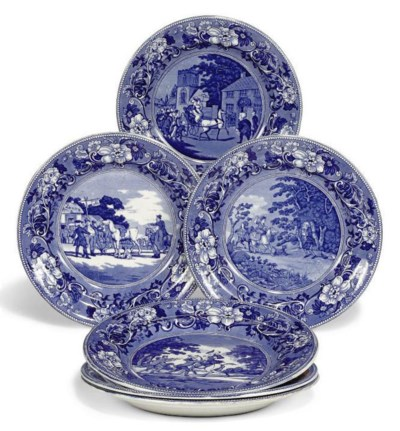 A SET OF SIX PEARLWARE 'DR SYN