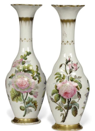 A PAIR OF FRENCH PORCELAIN VAS