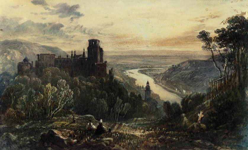 View of Heidelburg on the Rhine