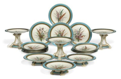 A ROYAL WORCESTER TURQUOISE-GR