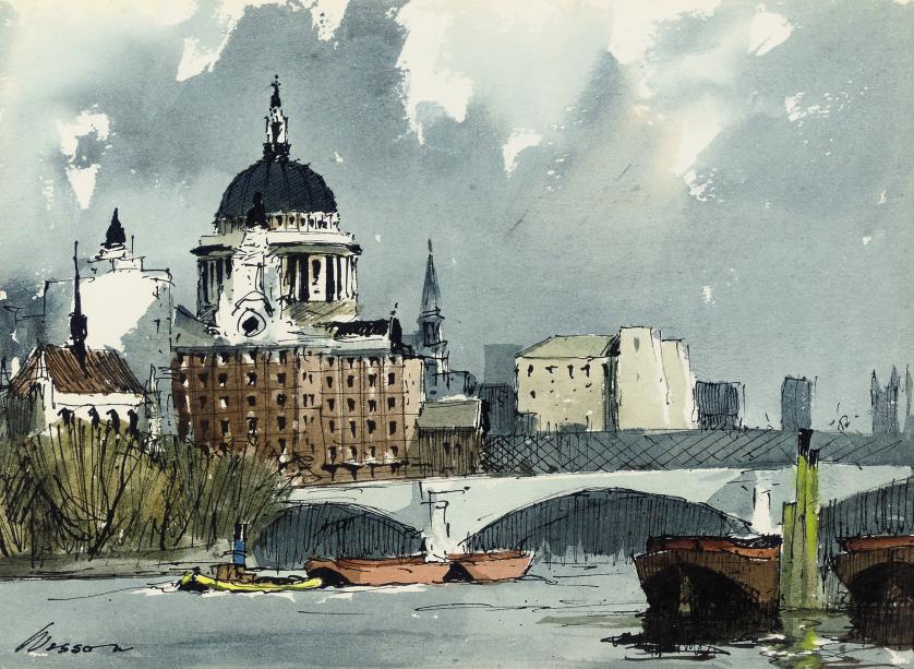 Blackfriars Bridge with St Paul's beyond