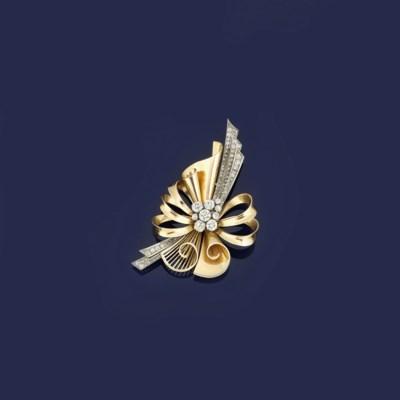 A diamond brooch