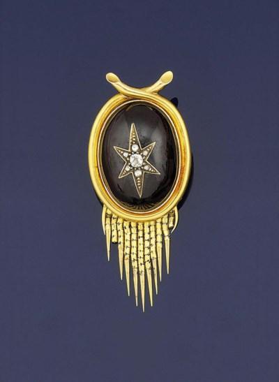 A mid 19th century gold, garne