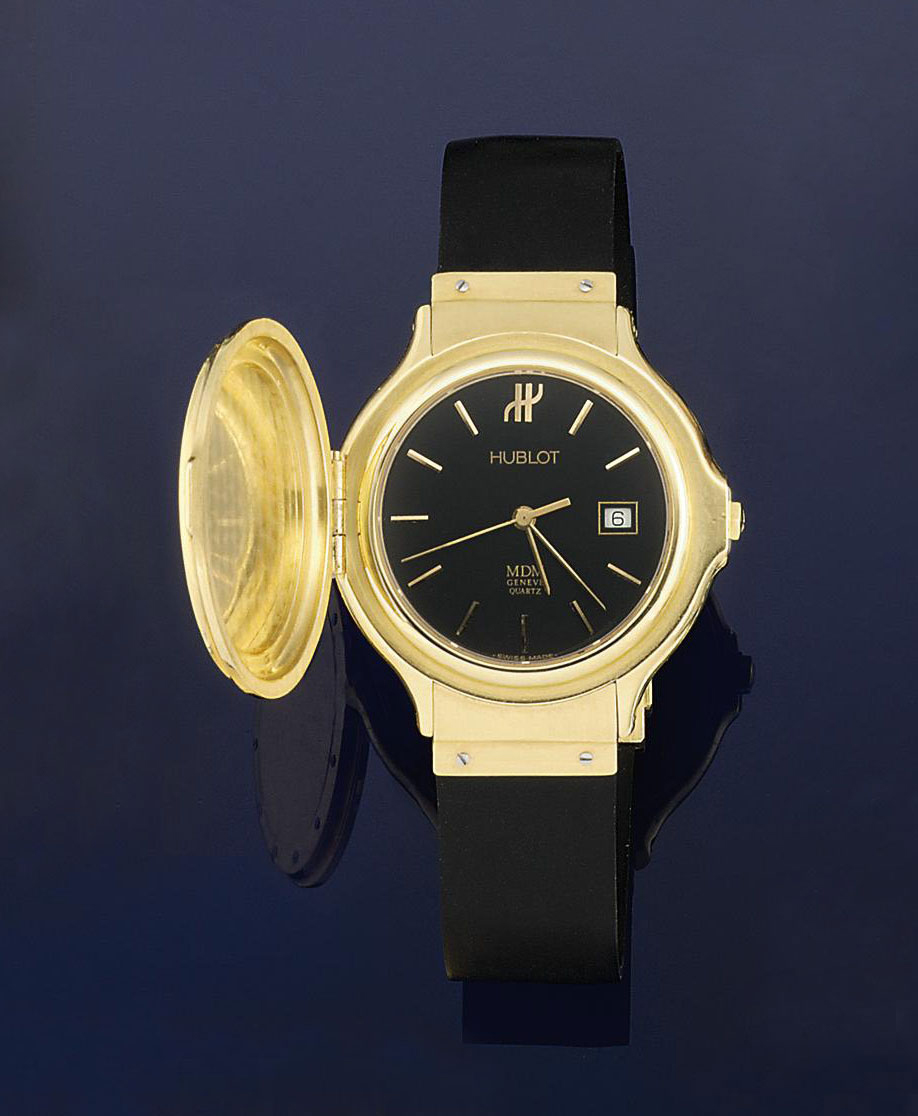 A quartz calendar wristwatch, by Hublot