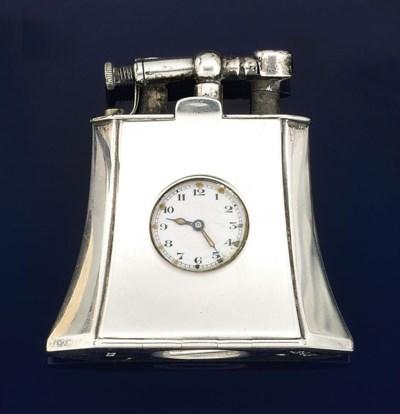 A silver lighter watch, by Dun
