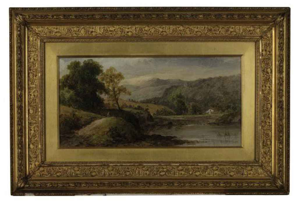 A river landscape with hills beyond; and Another similar