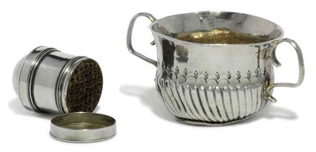 A QUEEN ANNE SILVER TOY PORRINGER