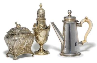 A VICTORIAN SILVER TEA CADDY I