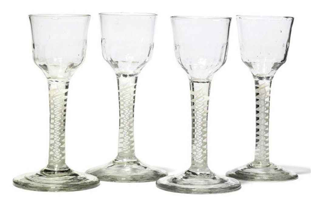 FOUR GEORGE III DRINKING GLASSES