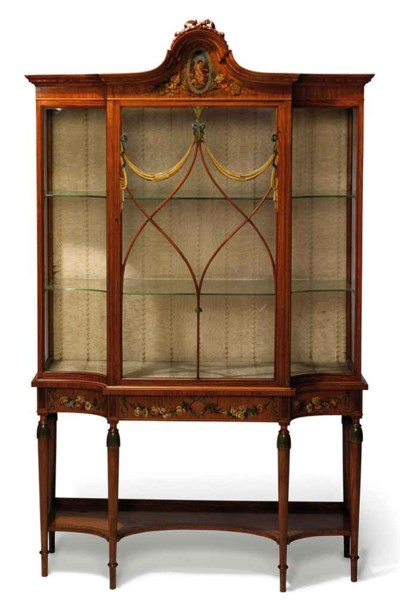 A GEORGE VI SATINWOOD AND POLY