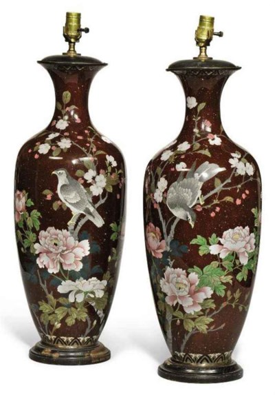 A PAIR OF JAPANESE LARGE CLOIS