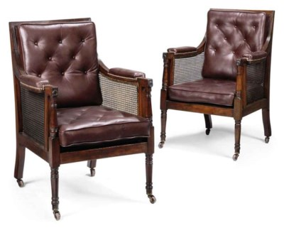 A PAIR OF VICTORIAN MAHOGANY C