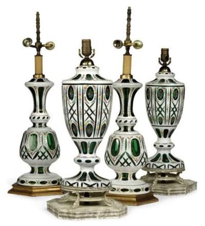 TWO PAIRS OF BOHEMIAN GLASS TA