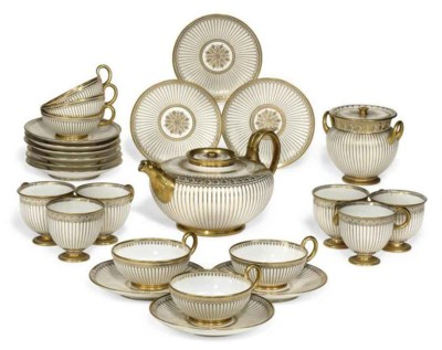 A SEVRES WHITE AND GOLD PART T